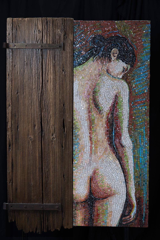 opera figurativa realizzata con mosaico da Dino Maccini