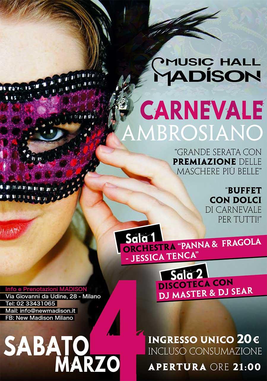 Carnevale al Madison Milano