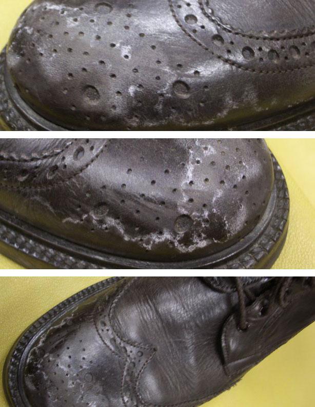 scarpe macchiate da pioggia o neve
