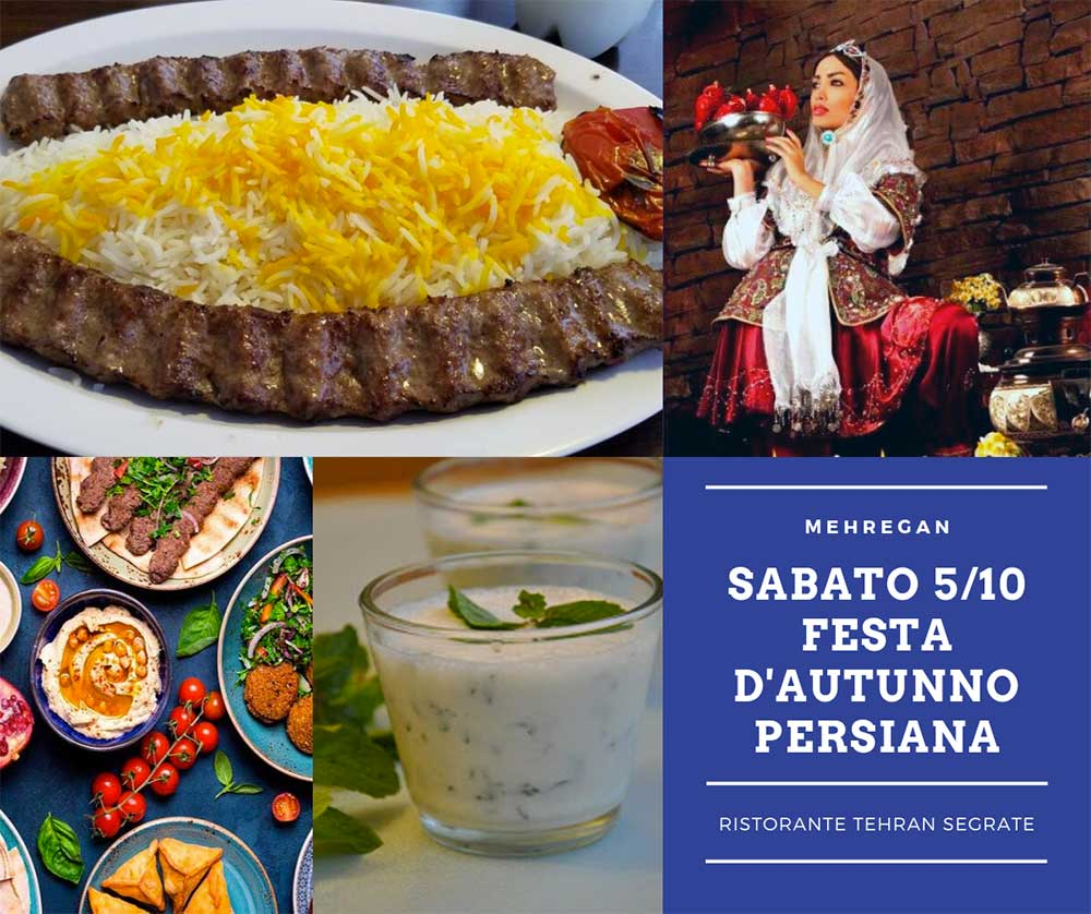 Serata ristorante Tehran festa Mehregan sabato 5 ottobre 2019