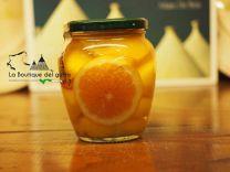 Pesche con arance allo sciroppo