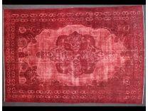 Vintage red broccato 235x350 cm