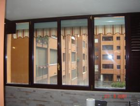 Chiusura veranda con serramenti in alluminio Metra