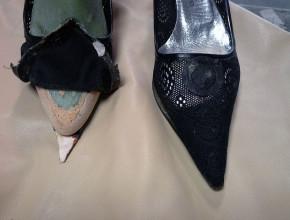 Accorciamenti. Questa scarpa è stata accorciata di cm 2 per darle una forma più tonda