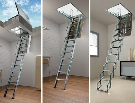 Scale retrattili e a scomparsa di me s scale 6in - Apertura solaio per scala interna ...