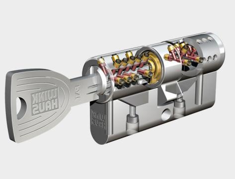 Sostituzione serratura cilindro europeo sensor for Estrarre chiave rotta da cilindro