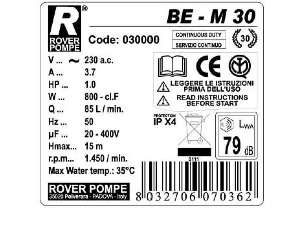 Elettropompa da travaso Rover BEM 30 immagine 1