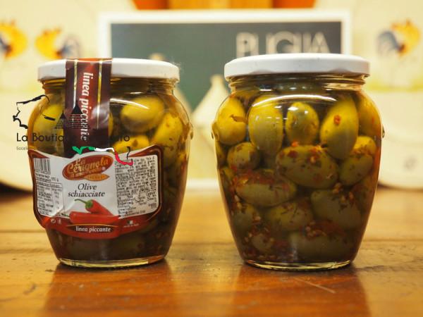 Olive schiacciate Piccanti 550g immagine 0